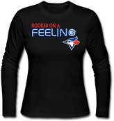 Sarah Women's Hooked On A Feeling Toronto Blue Jays Long Sleeve T-shirt