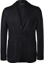 Giorgio Armani - Navy Slim-fit Cashmere Blazer