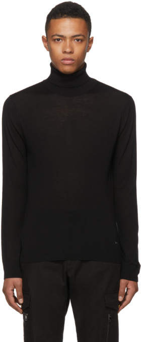 DSQUARED2 Black Wool Turtleneck