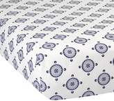 Lambs & Ivy Class Navy Medallion Fitted Crib Sheet by