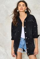 Nasty Gal nastygal You Got Me in Trouble Denim Jacket