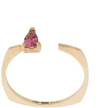 ALIITA 9kt yellow gold Argo Gota tourmaline ring