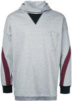 Factotum contrast hoodie - men - Cotton - 44
