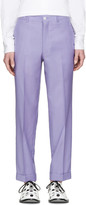 Comme des Garcons Purple Wool Cropped Trousers