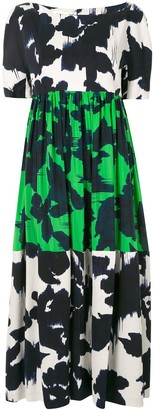 DELPOZO Color-Block Abstract Dress