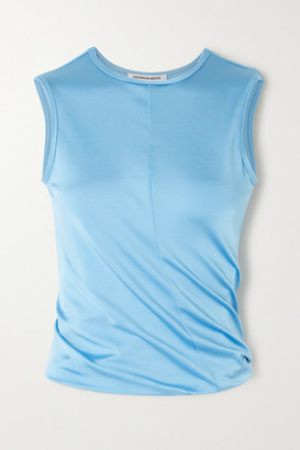 Georgia Alice Twist Cropped Jersey Tank - Sky blue
