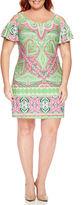 MSK Short Sleeve Sheath Dress-Plus