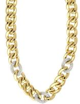Ice 2 CT TW Diamond High Polished 14K Gold Fancy Link Necklace