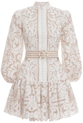 Zimmermann Edie Button Down Short Dress