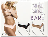 Hanky Panky Bare 3 Eve Natural Rise Thongs