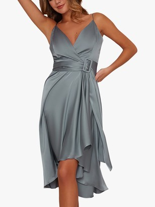 Chi Chi London Jennifer Belted Dress, Seam Foam