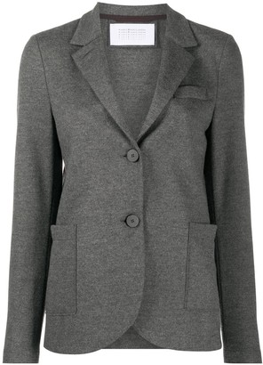 Harris Wharf London Textured Single-Breasted Blazer
