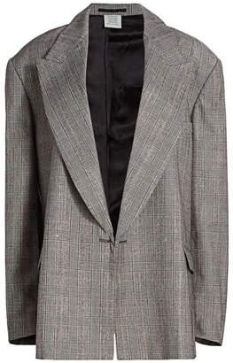 Vetements Open Sleeve Wool Jacket