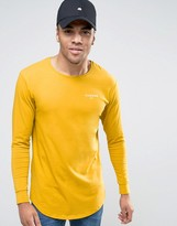Illusive London Muscle Fit Long Sleeve T-shirt In Mustard