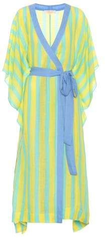 Diane von Furstenberg Striped linen-blend robe