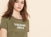 "Garage ""You & Me"" Boxy Tee With Rolled Up Cuffs"