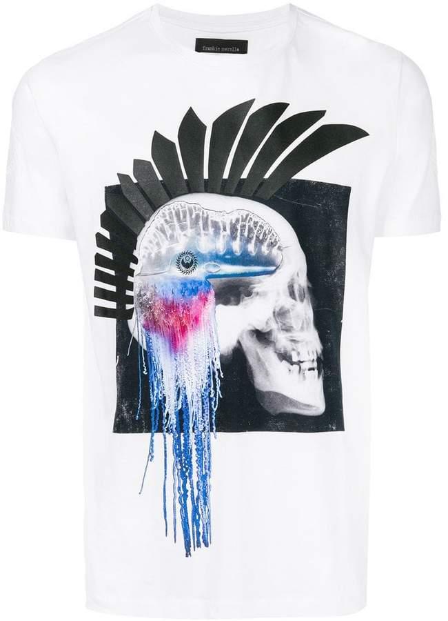 Frankie Morello skull print T-shirt
