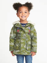 Old Navy Hooded Camo-Print Jacket for Toddler Girls