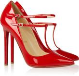 Christian Louboutin V Neck 120 patent-leather pumps