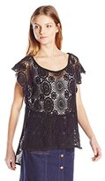 BCBGeneration Women's Embrace The Lace High Low Poncho
