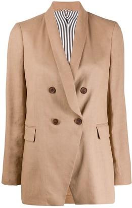 Brunello Cucinelli Double-Breasted Tailored Blazer