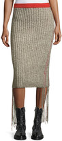 The Row Melodie Ribbed Cashmere Pencil Skirt