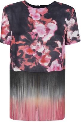 MSGM Frayed Floral T-shirt