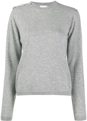 Ganni Cashmere Button-Shoulder Jumper