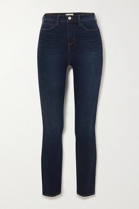 L'Agence Marguerite Cropped High-rise Skinny Jeans - Blue