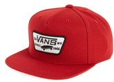Vans Boy's 'Full Patch' Snapback Hat - Red