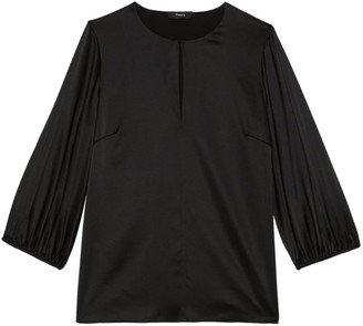 Theory Volume Sleeve Keyhole Top