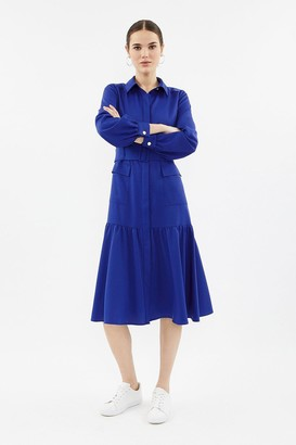 Coast Long Sleeve Midi Shirt Dress