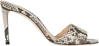 Jimmy Choo Stacey 85 Python Slide Sandals