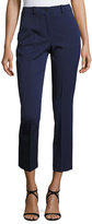 Michael Kors Cropped Stretch-Wool Pants, Navy