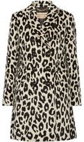 Burberry Plaistow Leopard-Print Llama Hair And Wool-Blend Trench Coat