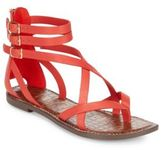 Sam Edelman Gallagher Leather Flat Sandals