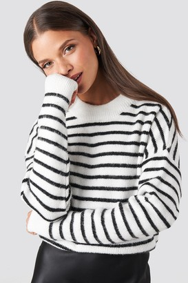 NA-KD Striped Round Neck Knitted Sweater