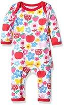 Toby Tiger Baby Girls 0-24m Super Soft Butterfly Flower Printed Sleepsuit Romper,(Manufacturer Size:3-6 cm)