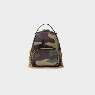 Moschino Backpack Printed Camouflage Khaki