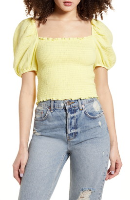 Socialite Puff Sleeve Smocked Top