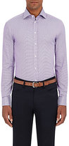 Giorgio Armani Men's Micro-Checked Cotton Shirt-BLUE
