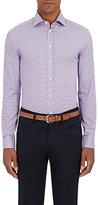 Giorgio Armani Men's Micro-Checked Cotton Shirt