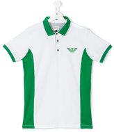 Armani Junior logo print polo shirt - kids - Cotton - 16 yrs