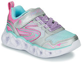 Skechers HEART LIGHTS girls's Shoes (Trainers) in Silver