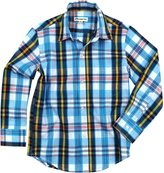 Appaman The Standard Shirt - Turquoise/Yellow Plaid - 4T