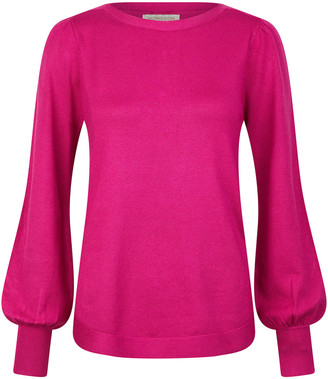 Under Armour Button Back Knit Jumper with LENZING ECOVERO Pink
