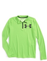 Under Armour Boy's Textured Quarter Zip Top