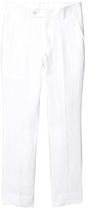 LAUREN Ralph Lauren Kids Linen Suit Pants (Big Kids) (White) Boy's Casual Pants