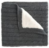 Elegant Baby Baby's Faux Fur-Lined Cable-Knit Blanket
