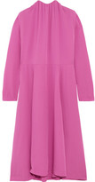 Balenciaga Split-side Silk-georgette Midi Dress - Pink